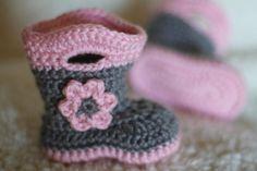 Lo vimos en Etsy: zapatitos de crochet para bebés | Para el bebe