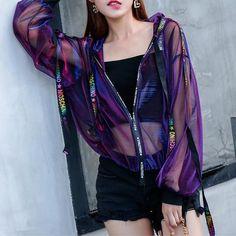 Purple Holographic Thin Jacket