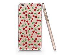 Cherry Pattern Transparent Plastic Phone Case for Iphone 6/6s (VA1026) Yurishop