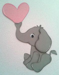 Spring Elephant Blowing Heart Valentine Kids Cartoon Tear Bear Kira AP4P | eBay
