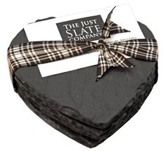 Just Slate Company Four Heart Shaped Slate Coasters Handcrafted Just Slate Company,http://www.amazon.com/dp/B009ABP93S/ref=cm_sw_r_pi_dp_AE6Zsb0BSK0YJZ3E