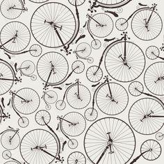 Vintage Fahrrad Seamless Wallpaper Lizenzfrei Nutzbare Vektorgrafiken, Clip Arts, Illustrationen. Pic 21699007.