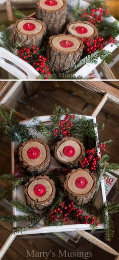 25 DIY Rustic Christmas Decoration Ideas & Tutorials More