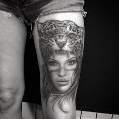 A more popular one: girl/leopard by Ervand Akopov.