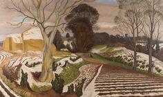 First Known When Lost: John Nash, Winter Scene Winter Landscape, Landscape Art, Landscape Paintings, Landscape Sketch, John Nash, Post Impressionism, Winter Art, Art Uk, Winter Scenes