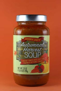 Trader Joe's Autumnal Harvest Soup review #traderjoes Whole Foods 365, Whole Food Recipes, Harvest Soup Recipe, Best Trader Joes Products, Halloween Inspo, Trader Joe's, Gluten Free Cooking, Calorie Counting, Celiac