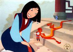 Disney Store Presale Lithograph: Mulan 1999 Mint Rare!!