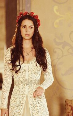 dress and floral headband from reign...I wish I could have this outfit and all the pretty dresses on the show! <3 More