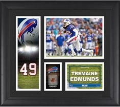 Tremaine Edmunds Buffalo Bills Framed 15