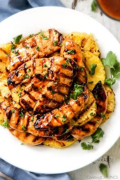 Stove Top or Grilled Brown Sugar Pineapple Chicken: just 10 minutes prep for this easy, sweet, and tangy chicken with just the right amount of chili kick.