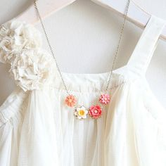 Daffodil Floral Necklace. $32.00, via Etsy.
