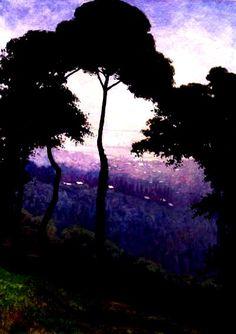 Félix Vallotton - Black Trees At Dusk