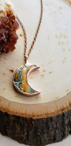 Kette Collier 925 Silber Onyx schwarz Mond Mondsichel Jugendstil Ornamente