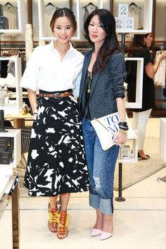 Marissa Webb Is The Best Idea Banana Republic's Had Yet #refinery29  http://www.refinery29.com/banana-republic-marissa-webb-spring-2015-collection-event#slide-2  Chung (left) and Webb show off the summer collection.