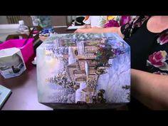 Mulher.com - 27/11/2015 - Porta panetone em mdf com decoupagem e pintura - Rose Rodrigues PT1 - YouTube