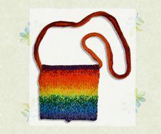 Rainbow Handbag by StripyKite on Etsy, £18.00
