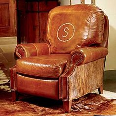 King Ranch Personalized Recliner Western Decor Style Country Furniture