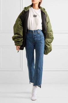 Vetements - Levi's Distressed High-rise Straight-leg Jeans - Blue - x small