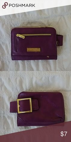 Wallet/clutch Purple wallet clutch wristlet cell phone case. Missing the strap. Steve Madden Bags Clutches & Wristlets
