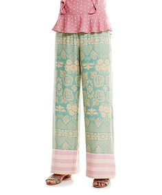 Look what I found on #zulily! Mint & Pink Salty Kiss Palazzo Pants - Women #zulilyfinds