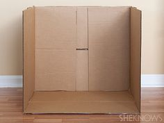 cut off top of cardboard box