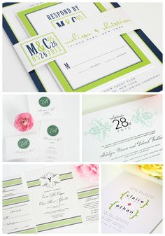 Our Favorite Green Wedding Invitations