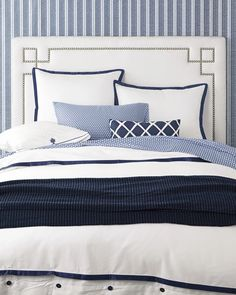 teamusa #olympics master bedroom - mediterranean blues and whites