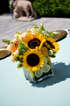 sunflower  centerpieces | CENTERPIECE SUNFLOWER
