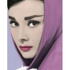 Gorgeous Audrey Hepburn in #painting. Medium is #oil, base is #canvas. #Handpainted Free shipping.