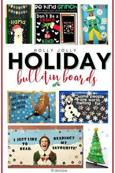 Winter-Themed #bulletinboards, Christmas, & more! ❄️☃️🎄 Library Bulletin Boards, Back To School Bulletin Boards, Preschool Bulletin Boards, Holiday Bulletin Boards, Christian Bulletin Boards, Reading Display, Christmas Program, Office Christmas, Oh Deer