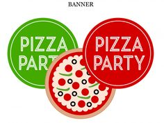 Free Pizza Party Printable Banner | CatchMyParty.com