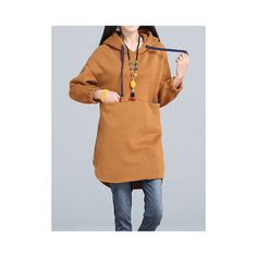 Women Long Sleeve Hooded Thicken Warm Autumn Winter Sweatshirt Dress (855 THB) ❤ liked on Polyvore featuring dresses, as picture, longsleeve dress, beige long sleeve dress, sleeved dresses, long sleeve hooded dress and long sleeve sweatshirt dress