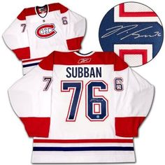 P.K. SUBBAN Montreal Canadiens SIGNED NHL Premier White Hockey Jersey . $398.05. This is an official licensed SIGNED PK Subban Montreal Canadiens jersey. The jersey is brand new with all of the lettering and numbering professionally sewn on. The player has beautifully signed the number. To protect your investment, a Certificate Of Authenticity and tamper evident hologram from A.J. Sports World is included with your purchase.