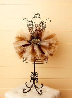 Cheetah Print Brown & Cream Baby & Girls Tutu Skirt-