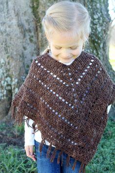 Crochet Poncho PATTERN Bohemian Poncho Pattern fringes | Etsy