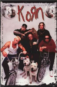 An awesome band portrait poster of Korn all decked out California-style! An original published in 1998. Fully licensed. Ships fast. 22x34 inches. Check out the rest of our great selection of Korn post