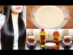 ▶ DIY Hair Mask for Frizzy Dry and Damage Hair and Hair Growth - YouTube