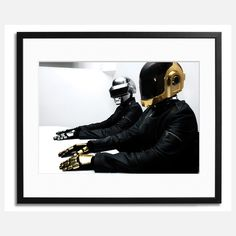 Daft Punk Paris Framed