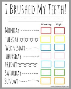 Kids Health Children's Dental Health Month (February) - Printable Teeth Brushing Chart for passive program - Our teeth brushing incentive chart is the perfect way to BRUSH UP on good dental hygiene! Grab a copy for free and get started today! Dental Health Month, Oral Health, Kids Health, Children Health, Health Tips, Health Chart, Health Fair, Health Lessons, Dental Kids