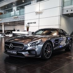 """Right in the heart of the Mercedes-AMG Headquarter in Affalterbach: the AMG GT S Edition Exterior: selenit grey! Photo shot by Rafael Weinberger…"" Mercedes Benz Amg, Mercedes Sports Car, Mercedez Benz, Bus, Amazing Cars, Hot Cars, Motor Car, Luxury Cars, Dream Cars"