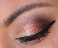 Smoky eye with Lorac Pro Palette and Candii Blossom Cosmetics Tangerine Dream