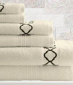 6 Piece Egyptian Cotton Towel Set Quatrefoil (Opal)