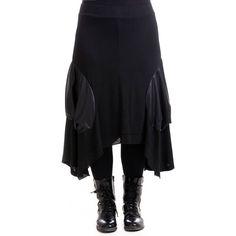 SEELENLOOK #NEWS   Balloniger Rock von MAT Fashion Schwarz Gr. 40-42   Im Onlineshop ansehen:  https://seelenlook.de/damenmode-neuheiten   #Lagenlook #Plussize #Fashion #Mode #Style