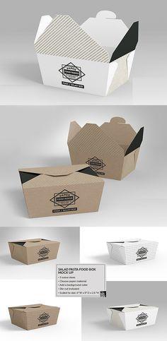 33 trendy Ideas for design food box inspiration Box Packaging Templates, Food Box Packaging, Packaging Design, Salad Packaging, Salad Box, Food Truck Design, Box Design, Recipe Box, Branding