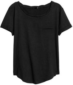 H&M - Jersey Top - Black - Ladies