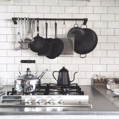 #kitchen #whitebacksplash