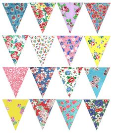 Mini Bunting Full Set by Bustle & Sew, via Flickr                                                                                                                                                     More
