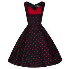 6a8ffe2171f07 Black Polka Dot Ophelia Dress Vintage Inspired Fashion