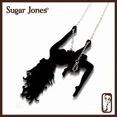 Showgirl Sassy Swinging Lassy Laser Cut Pendant by SugarJonesUK, £26.00