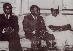De gauche à droite, Senghor, Houphouët et Sékou. Gauche, Painting, Art, Black History, African, Persona, Art Background, Painting Art, Kunst
